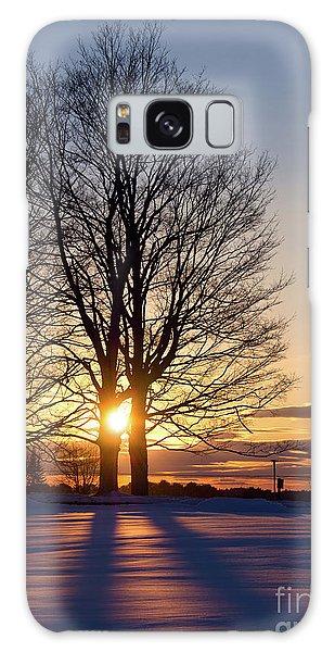 Winter, Crystal Spring Farm, Brunswick, Maine -78592 Galaxy Case by John Bald