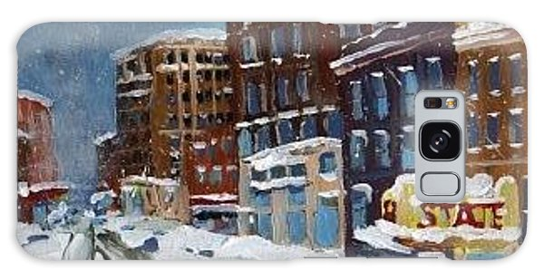 Winter Downtown Galaxy Case by Rodger Ellingson