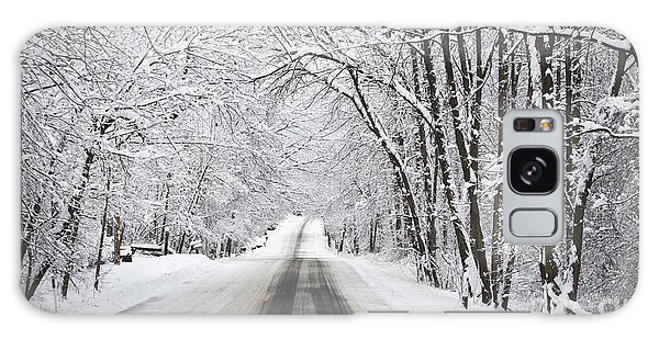 Winter Drive On Highway A Galaxy Case