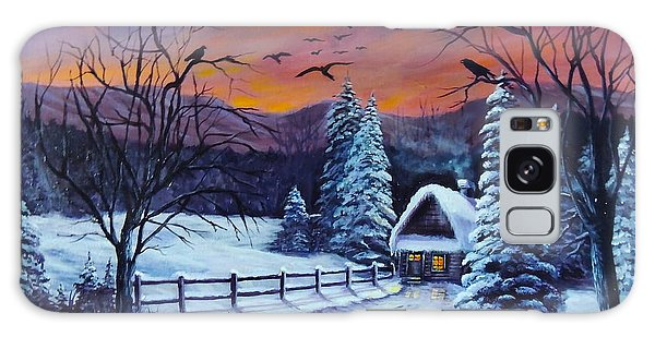 Winter Evening 2 Galaxy Case by Bozena Zajaczkowska