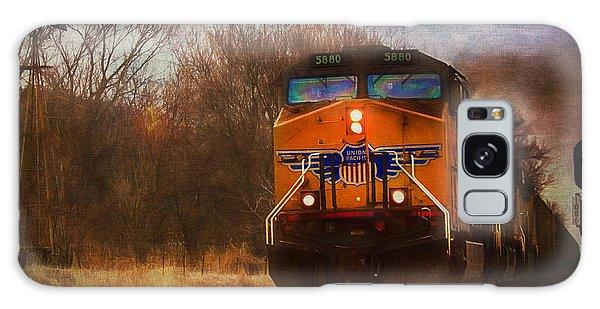 Winter Evening Union Pacific Train Galaxy Case