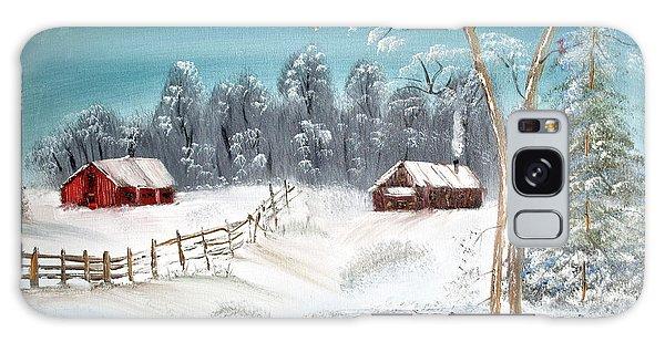 Winter Farm Galaxy Case