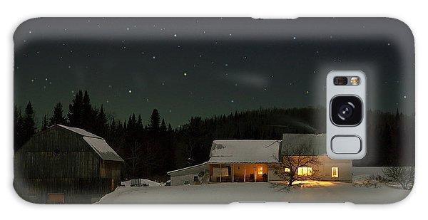 Winter Farmhouse Galaxy Case