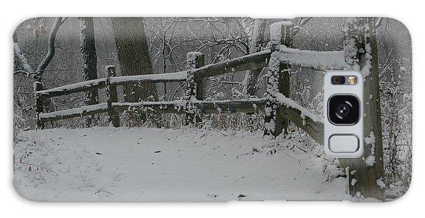 Winter Fence Trail H Galaxy Case