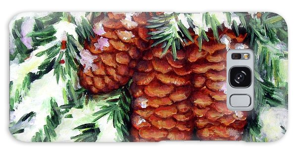 Winter Fir Cones Galaxy Case