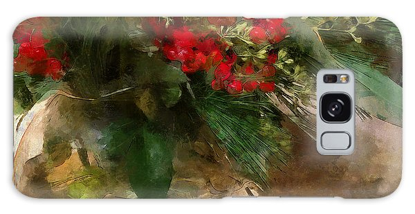 Winter Flowers In Glass Vase Galaxy Case
