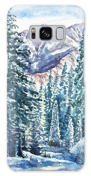 Outdoor Dining Galaxy Case - Winter Forest And Mountains by Irina Sztukowski
