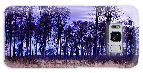 Winter Forest At Sunset In Hungary Galaxy Case by Gabor Pozsgai