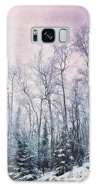 Galaxy Case - Winter Forest by Priska Wettstein