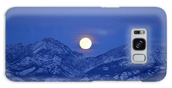 Winter Full Moon Over The Rockies Galaxy Case