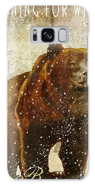 Rustic Galaxy Case - Winter Game Bear by Mindy Sommers