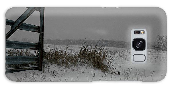 Galaxy Case featuring the photograph Winter Gate by Dylan Punke