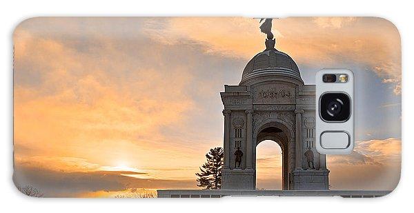 Winter Gettysburg Sunrise Galaxy Case by Nicolas Raymond