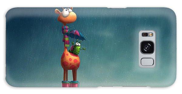 Scarf Galaxy Case - Winter Giraffe by Tooshtoosh