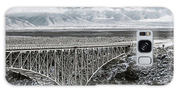 Galaxy Case featuring the photograph Winter Gorge Bridge  by Britt Runyon