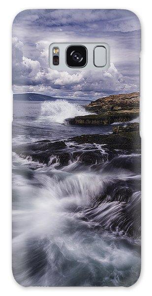 Winter Harbor At Acadia National Park Galaxy Case