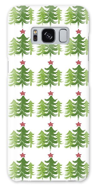 Holiday Galaxy Case - Winter Holiday Trees 1-  Art By Linda Woods by Linda Woods