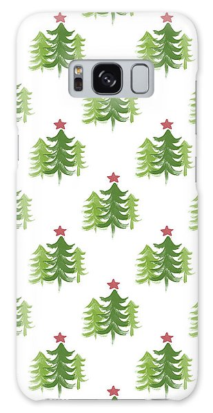 Holiday Galaxy Case - Winter Holiday Trees 2- Art By Linda Woods by Linda Woods