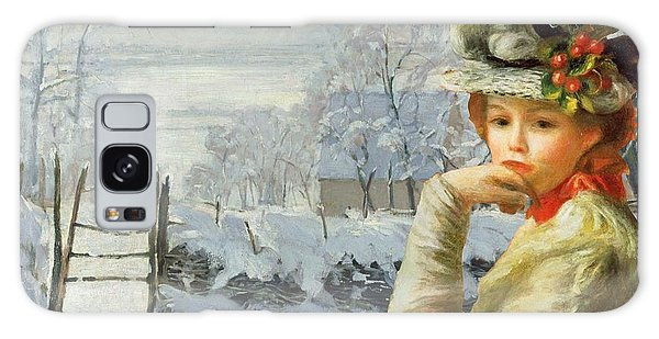 Galaxy Case - Winter Holly by Laura Botsford