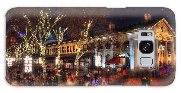Winter In Boston - Quincy Market Galaxy Case