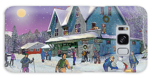Winter In Campton Village Galaxy Case