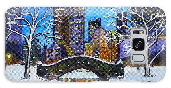 Winter In New York- Night Landscape Galaxy Case
