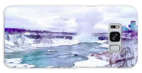Winter In Niagara 1 Galaxy Case