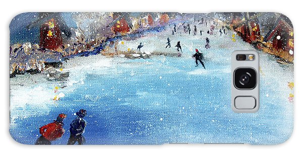 Winter In The Netherlands Galaxy Case