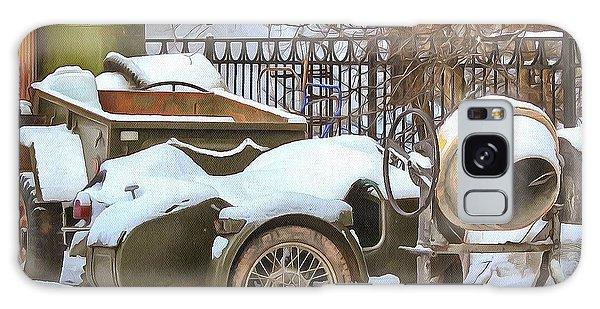 winter in the village Russian Galaxy Case