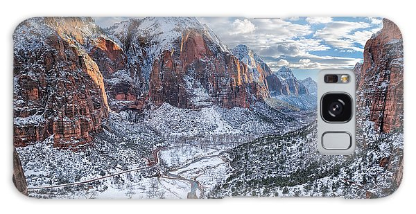 Winter In Zion National Park Galaxy Case