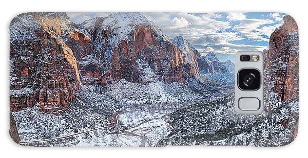 Winter In Zion National Park Galaxy Case