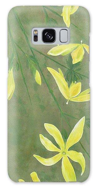 Winter Jasmine Galaxy Case by Barbara Moignard