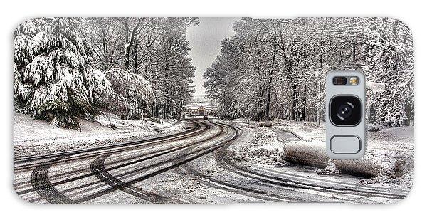 Tracks In The Snow Galaxy Case by Alex Galkin