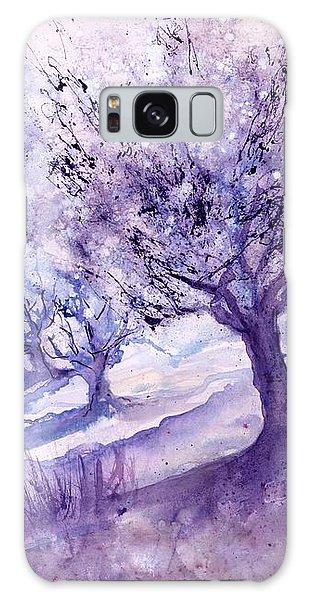 Winter Landscape Early Morning  Galaxy Case