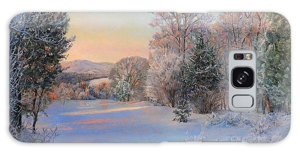 Winter Landscape In The Morning Galaxy Case