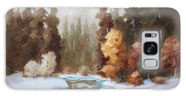 Winter Landscape Original Oil Painting Galaxy Case by Brenda Thour