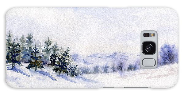Winter Landscape Snow Scene Galaxy Case