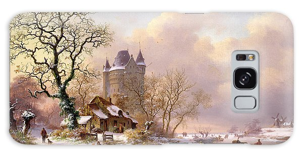 Winter Landscape With Castle Galaxy Case