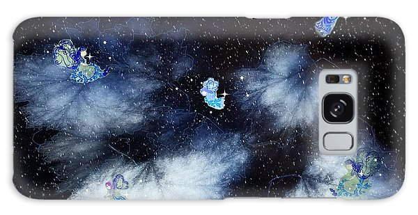 Winter Leaves And Fairies Galaxy Case