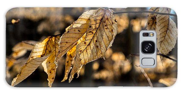Winter Leaves Left Galaxy Case