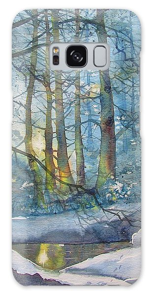 Winter Light In The Forest Galaxy Case