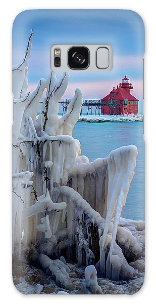 Winter Lighthouse Galaxy Case