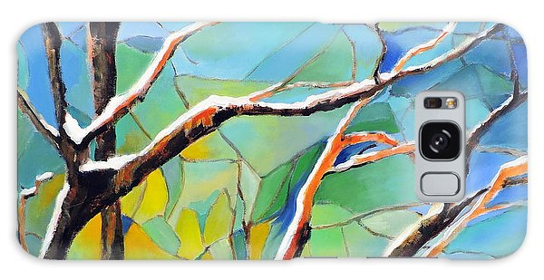 Winter Locust Tree Galaxy Case