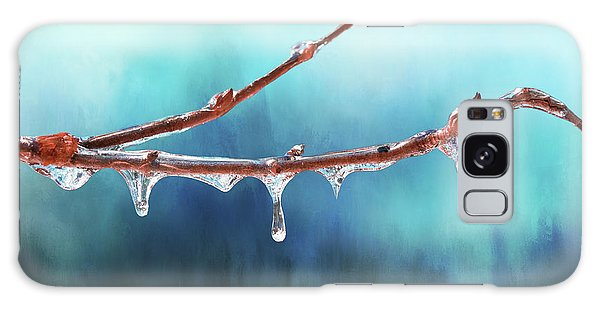 Winter Magic - Gleaming Ice On Viburnum Branches Galaxy Case