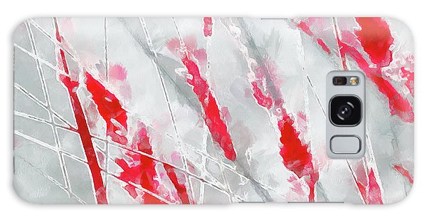 Winter Moods 1 - Cardinal Red And Icy Gray Nature Abstract Galaxy Case