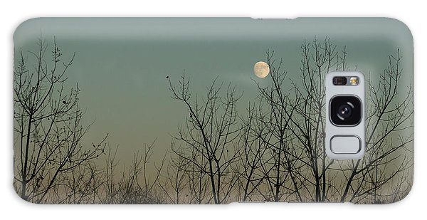 Galaxy Case featuring the photograph Winter Moon by Ana V Ramirez