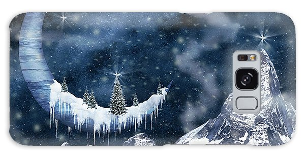 Winter Moon Galaxy Case by Mihaela Pater