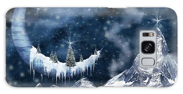 Winter Moon Galaxy Case by Mihaela Pater
