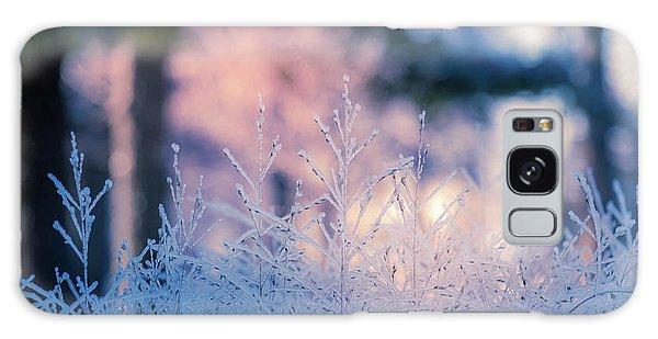 Winter Morning Light Galaxy Case