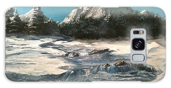 Winter Mountain Stream Galaxy Case by Jack Skinner